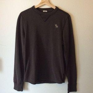 Abercrombie & Fitch Brown Long Sleeved Sweater